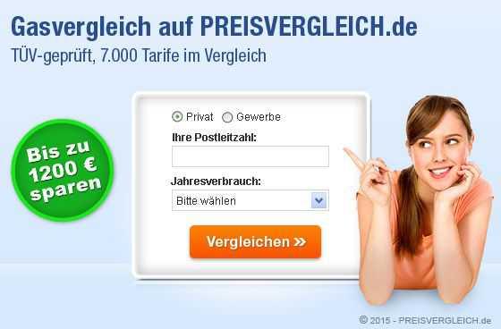 Gasvergleich - Gas vergleichen auf PREISVERGLEICH.de
